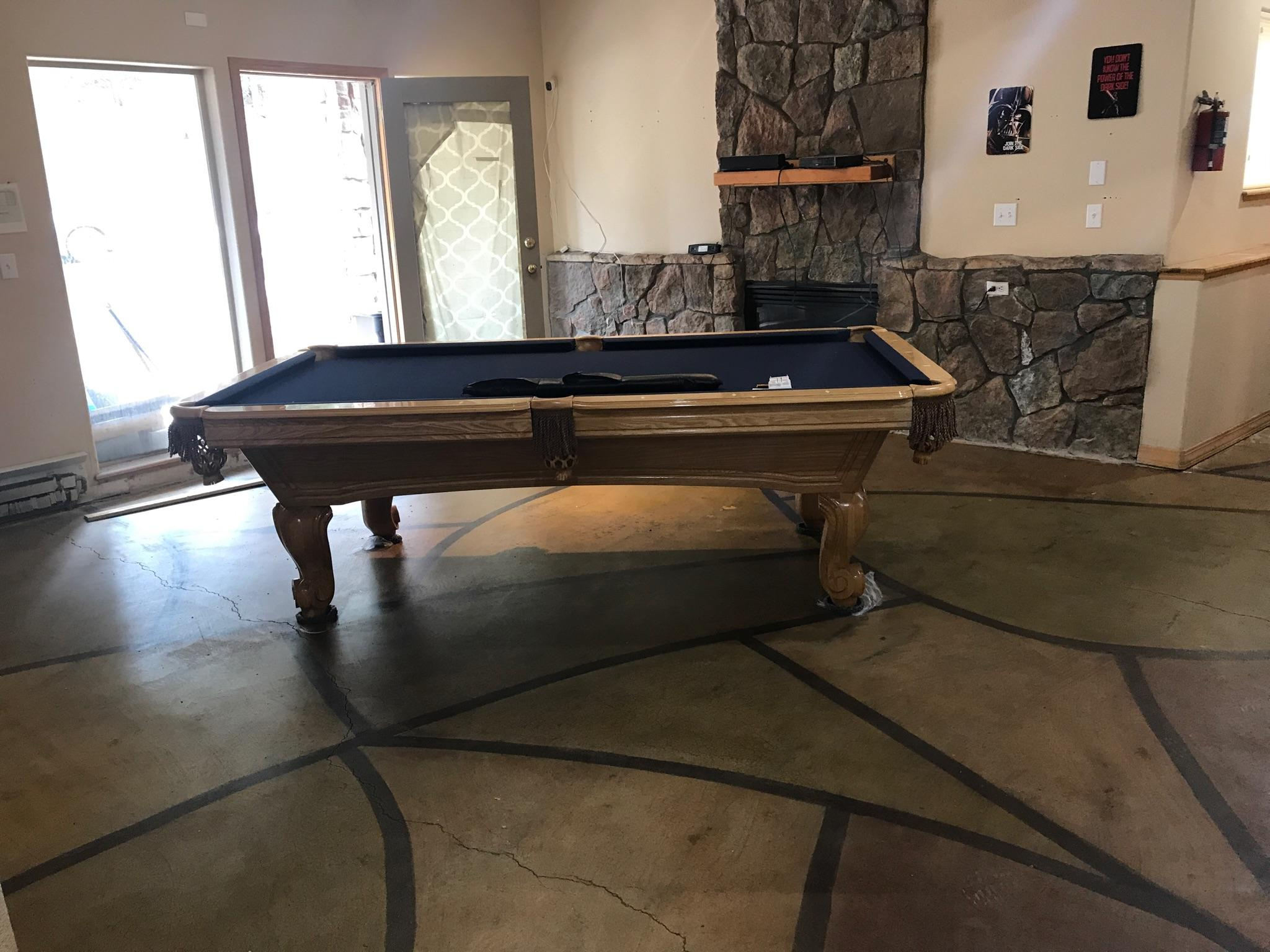 A basement game room in Evergreen Colorado.