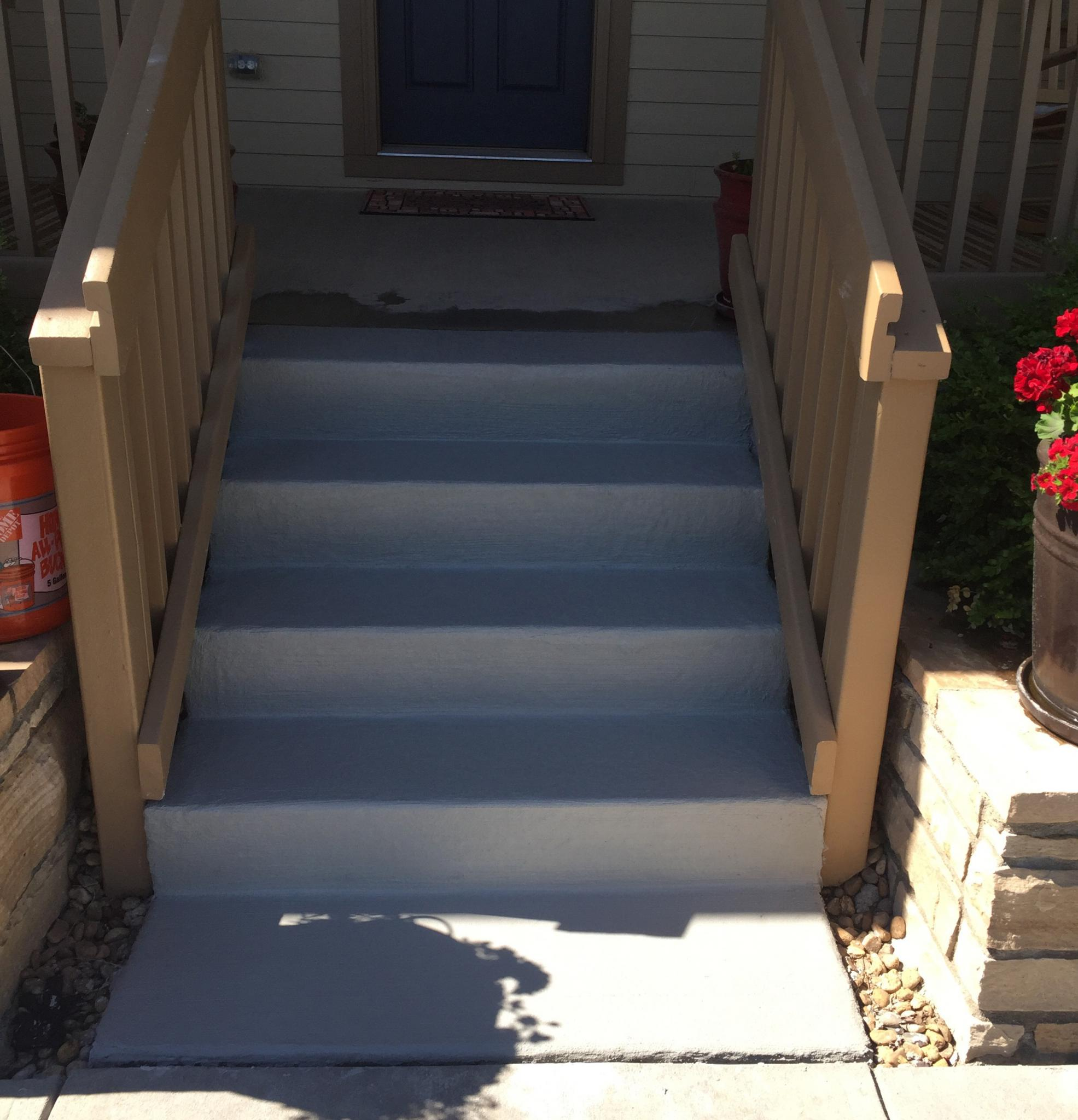 Front stairway in Highlands Ranch, CO