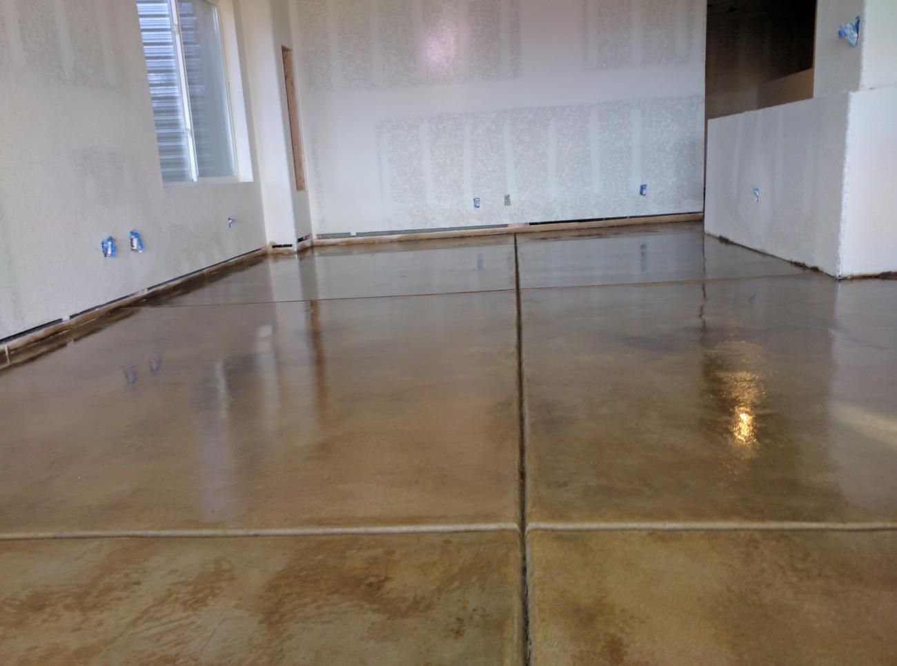 Stains Dyes Clear Coats Highlands Concrete Finishers - Clear coat for tile floors