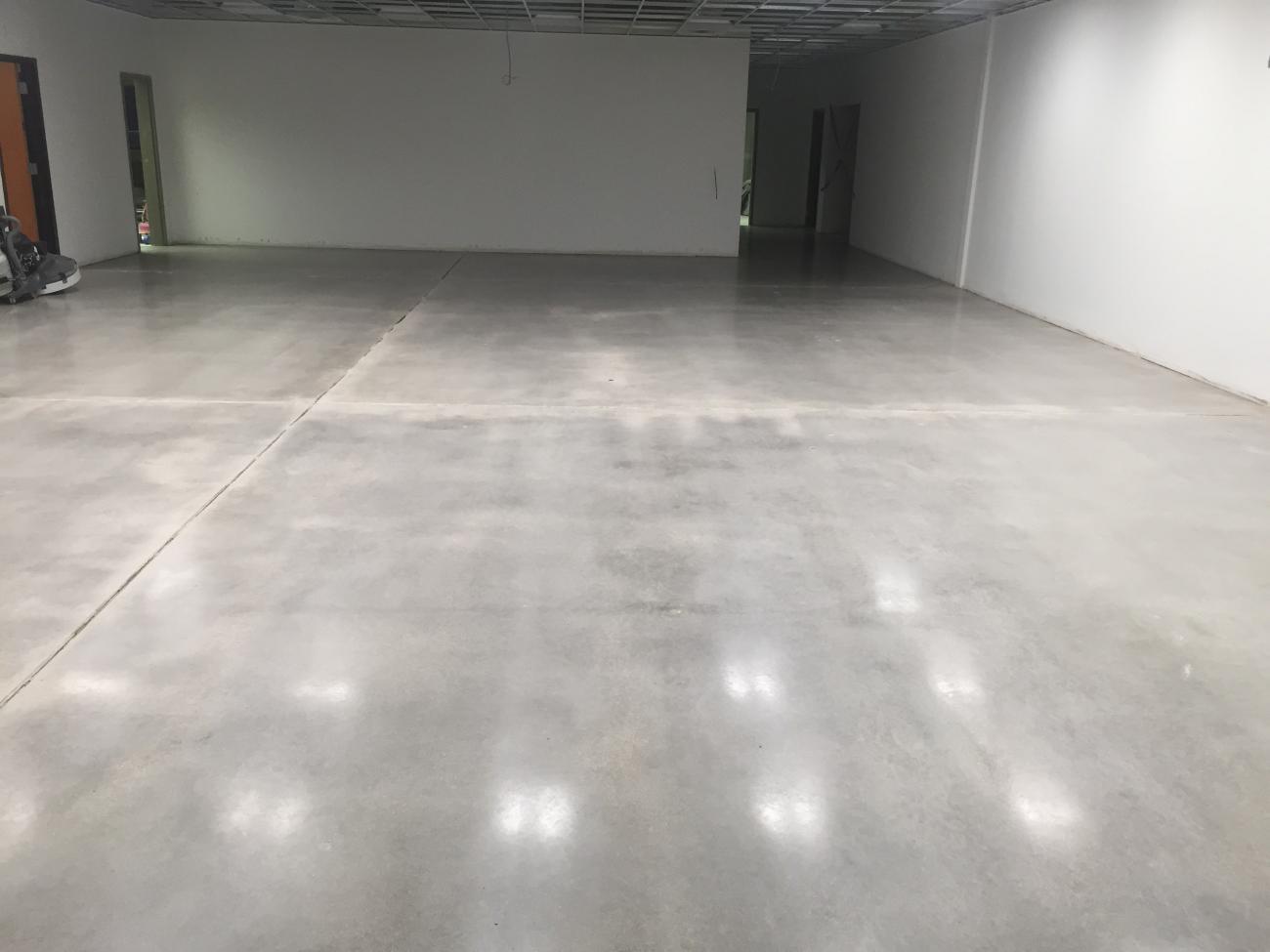 Polishing highlands concrete finishers for How to make concrete floors shine