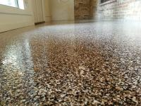 Denver Colorado wash room got an epoxy flake floor installed by us.