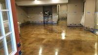 Stain and sealer over basement concrete in Evergreen Colorado performed by us in 2018.