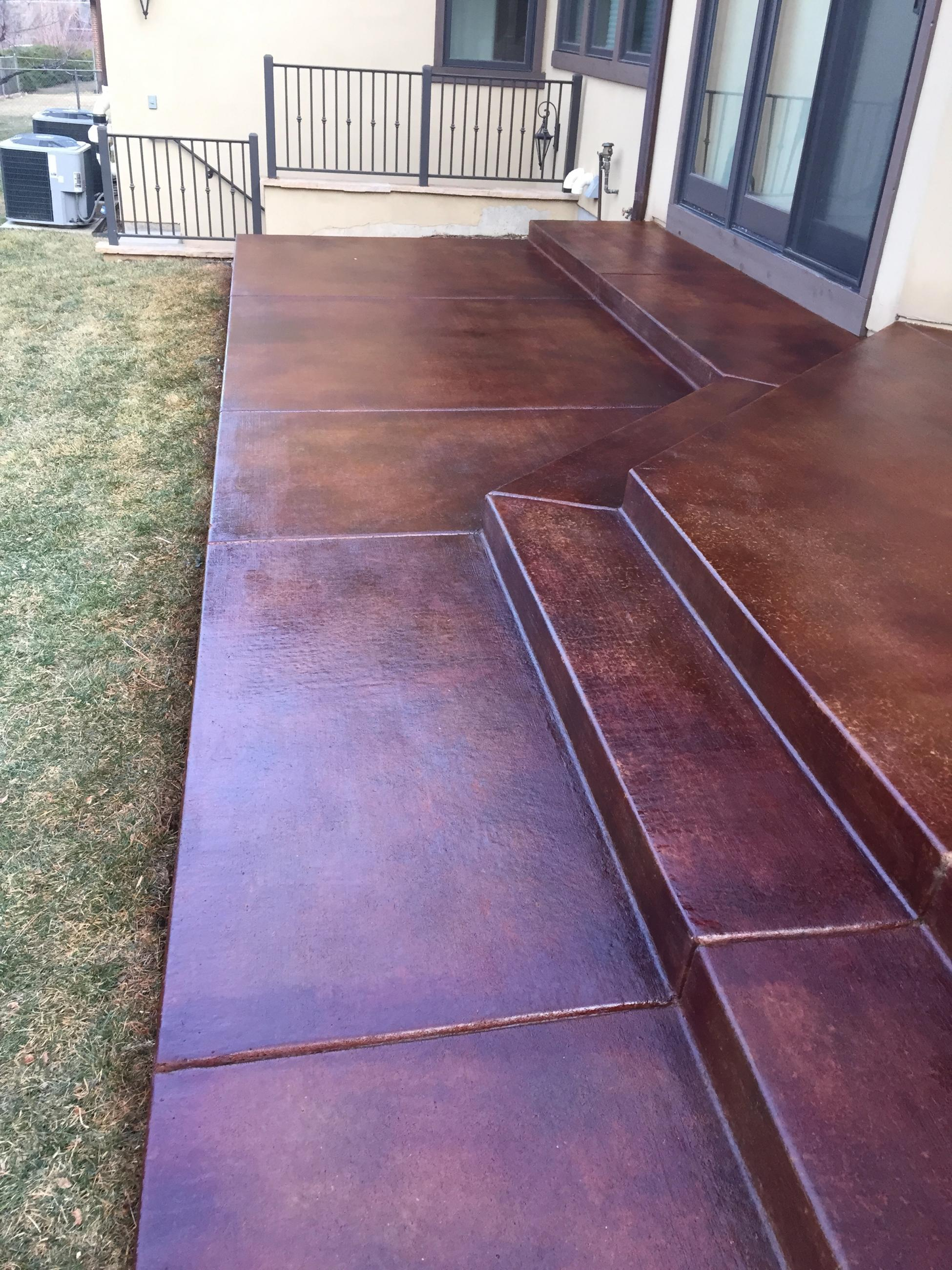 Stains Dyes Amp Clear Coats Highlands Concrete Finishers